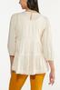 Plus Size Ivory Tiered Tunic alternate view
