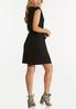Plus Size Black Padded Shoulder Dress alternate view