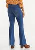 Petite Raw Edge Flare Jeans alternate view