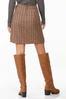 Plaid Wrap Mini Skirt alternate view