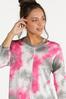 Plus Size Tie Dye Cutout Top alt view