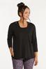 Plus Size Relaxed Raw Edge Top alt view