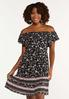Plus Size Crepe Floral Dress alt view