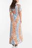 Plus Size Cold Shoulder Tie Dye Maxi Dress alternate view
