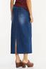 Plus Size Denim Seamed Maxi Skirt alternate view