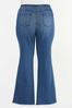 Plus Petite Floral Embroidered Flare Jeans alternate view