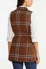 Plus Size Belted Plaid Vest alternate view
