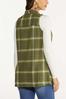 Plus Size Green Plaid Vest alternate view