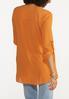 Plus Size Autumn Orange Cross Hem Tunic alternate view