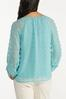 Plus Size Sky Textured Pullover Top alternate view