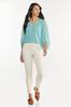 Plus Size Sky Textured Pullover Top alt view