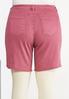 Plus Size Rose Denim Shorts alternate view