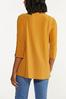 Plus Size Gold Ladder Sleeve Top alternate view