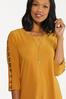 Plus Size Gold Ladder Sleeve Top alt view