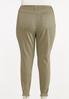 Plus Size Frayed Olive Pants alternate view