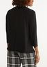 Plus Size Black Twisted V- Neck Top alternate view