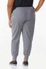Plus Size Solid Stretch Joggers alternate view