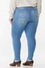Plus Size Frayed Button Fly Jeans alternate view