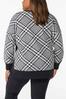 Plus Size Houndstooth Sweatshirt alternate view