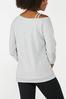 Gray Strappy Shoulder Sweatshirt alternate view