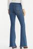 Petite Floral Embroidered Flare Jeans alternate view