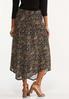 Plus Size Mesh Floral Midi Skirt alternate view