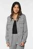 Plus Size Houndstooth Shacket alt view