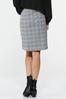 Gray Plaid Mini Skirt alternate view