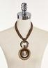 Braided Bead Wood Shell Necklace alternate view