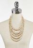Layered Neutral Disc Bead Necklace alternate view