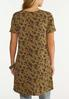 Plus Size Olive Floral Tunic alternate view