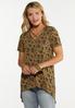 Plus Size Olive Floral Tunic alt view