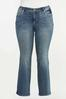 Plus Size Star Studded Bootcut Jeans alternate view