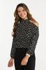 Dotted Cutout Top alt view