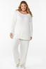Plus Size Ribbed Lounge Top alt view