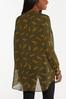 Plus Size Sheer Cheetah Tunic alternate view
