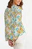 Plus Size Floral Fields Balloon Sleeve Top alternate view
