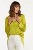 Plus Size Twist Of Lime Tunic alt view