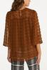 Plus Size Cocoa Textured Dot Top alternate view