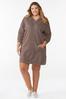 Plus Size Hooded Sweatshirt Dress alt view