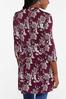 Plus Size Wine Floral High- Low Tunic alternate view