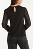 Plus Size Sheer Dotted Sleeve Top alternate view