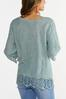 Plus Size Embroidered Lace Up Top alternate view