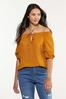 Plus Size Ruffled Puff Sleeve Poet Top alt view