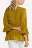Plus Size Olive Tiered Poet Top alternate view