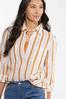 Plus Size Frayed Gold Stripe Tunic alt view