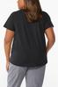 Plus Size Solid Black Active Tee alternate view