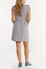 Plus Size Belted Padded Shoulder Dress alternate view