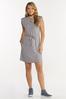 Plus Size Belted Padded Shoulder Dress alt view