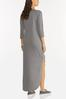 Plus Size Knotted French Terry Maxi Dress alternate view